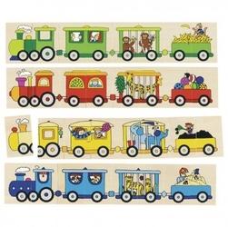 Memo i puzzle 4 pociągi