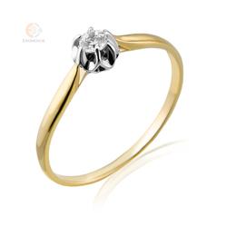 Pierścionek zaręczynowy - wzór Au-Bd-60