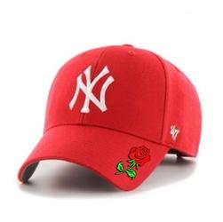 Czapka z daszkiem 47 brand mlb new york yankees 47 mvp custom rose - b-mvp17wbv-rd