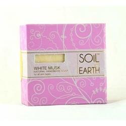 Naturalne mydło białe piżmo white musk, 100g, soil  earth - relaksujące i odmładzające