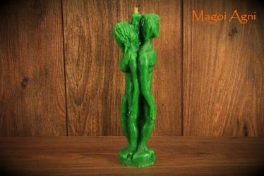 Świeca separacyjna kochanków adama i ewy zielona - pokojowe rozstanie, separacja z nadzieją na nowy związek