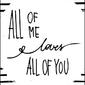 Kocham cię całego - plakat wymiar do wyboru: 70x100 cm
