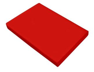 Prześcieradło satynowe bez gumki greno czerwone 160 x 210
