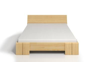 Łóżko drewniane sosnowe ze skrzynią na pościel skandica vestre maxi   st