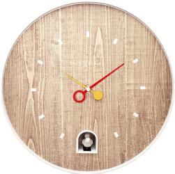 Zegar z białym słowikiem Nextime Nightingale 30 cm 5220 WI