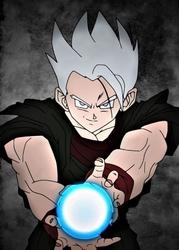 Dragon ball - gohan white - plakat wymiar do wyboru: 59,4x84,1 cm