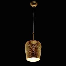 Lampka złota wisząca z efektem 3d fusion mw-light megapolis 392018801