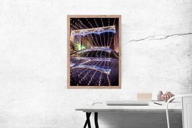 Światełka - plakat premium wymiar do wyboru: 21x29,7 cm
