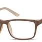 Okulary zerówki oprawki sunoptic cp157g brązowo-kremowe