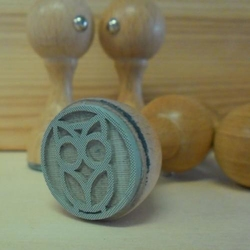 Stempel gumowy 25 mm - SOWA - SOW