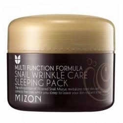 MIZON Snail Wrinkle Care Sleeping Pack W Maska w kremie na noc z śluzem ślimaka 80ml