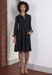 Sukienka Midi Typu Szmizjerka Czarna