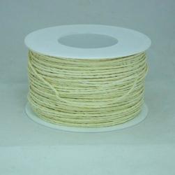 Ozdobny sznurek papierowy z drutem - kremowy - KRE