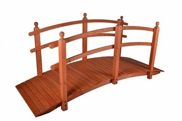 Drewniana kładka, pomost, most, dekoracja ogrodowa 250x110x90cm