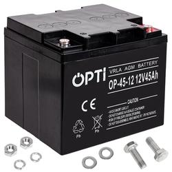Akumulator żelowy agm opti 12v 45ah bezobsługowy volt polska