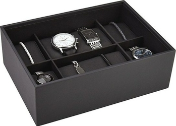 Pudełko na zegarki 6 komorowe Classic Stackers