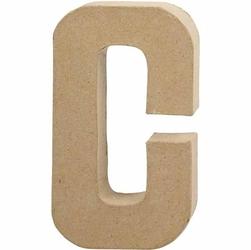Litera z papier mache 20,5x2,5 cm - C - C