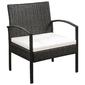 Zestaw ogrodowy stół + 2 krzesła torra brązowy