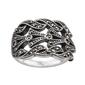 Staviori pierścionek. markazyty. srebro 0,925. długość 22 mm. szerokość 14 mm.   dostępne również duże rozmiary 21,22,23