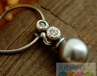Baobab - srebrny wisiorek z perła i cyrkoniami