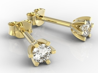 Kolczyki z żółtego złota z diamentami lpk-8032z