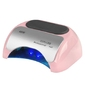 Lampa professional 2w1 uv led+ccfl 48w timer+sensor różowa