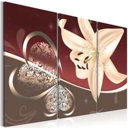 Obraz - abstrakcja z lilią - tryptyk