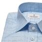 Niebieska koszula van thorn w kratę z kołnierzykiem półwłoskim  49