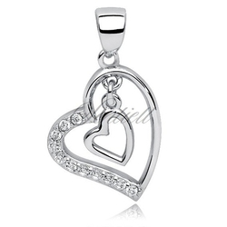Srebrna zawieszka pr.925 serce w sercu