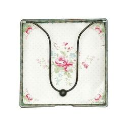 Serwetnik metalowy abelone white green gate