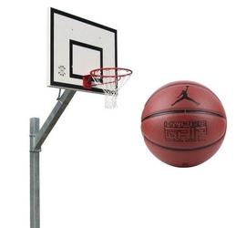 Zestaw kosz do koszykówki sure shot euro court 661.4 cynkowany z certyfikatem wysięgnik + piłka do koszykówki air jordan hyper grip