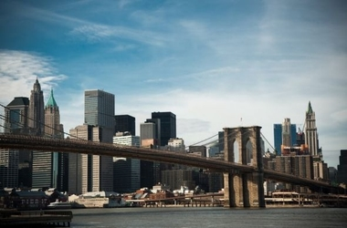 Nowy jork, brooklyn bridge - fototapeta