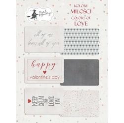 Ozdobne karty do journalingu Kolory miłości