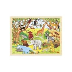 AFRYKAŃSKIE ZWIERZĘTA drewniane puzzle