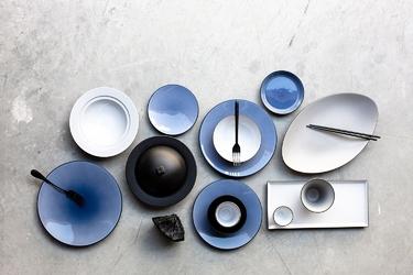 Talerz prezentacyjny 31,5 cm equinoxe revol niebieski cirrus rv-649503-2