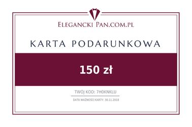 Karta podarunkowa do sklepu EleganckiPan.com.pl 150 zł