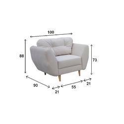 Fotel do salonu nordik iii