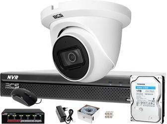 Zestaw monitoringu do samodzielnego montażu bcs-nvr0401x5me-ii kamera bcs-dmip1501ir-e-v 1tb system ip