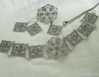 Awinion - srebrny zestaw biżuterii komplet