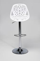 KARE Design :: Hoker  Krzesło barowe Ornament White - czarny