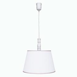 Lampa wisząca roomee decor - biała z różową lamówką
