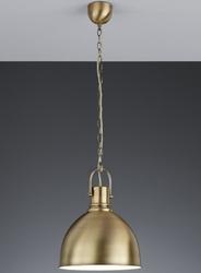 Loftowa lampa wisząca w kolorze patyny jasper