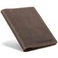 Skórzany cienki portfel slim wallet brodrene sw07 brązowy - c. brązowy