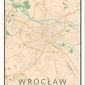 Wrocław mapa kolorowa - plakat