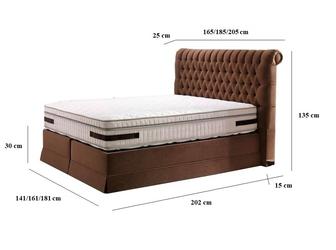 Łóżko kontynentalne vineza 140x200 cm
