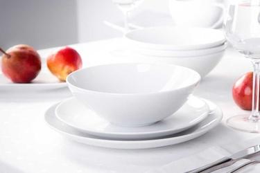 Zestaw obiadowy dla 6 osób porcelana mariapaula moderna biała 18 elementów