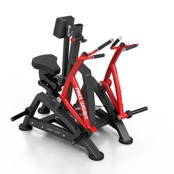 Maszyna na wolny ciężar na mięśnie pleców mf-u017 - marbo sport - czarny  antracyt metalic