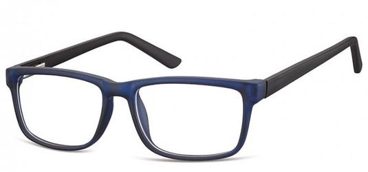 Okulary zerówki oprawki sunoptic cp157b granatowo-czarne
