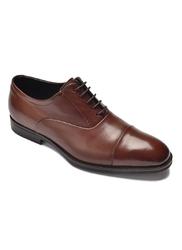 Eleganckie brązowe skórzane buty męskie typu oxford 42,5