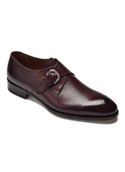 Eleganckie burgundowe buty męskie typu monk arbiter 39,5